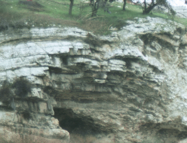 Taken during the early 1990s this provides a closer view of the rock of Abraham.